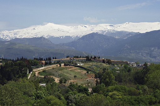 Spain, Sierra Nevada, Landscape, Mountains, Snow Caped
