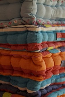 Pillow, Stacked, Pillow Stack, Seat Cushions