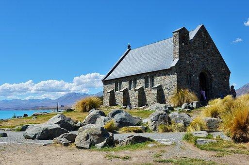 Shepherd's Chapel, Stone House, Mountain, New Zealand