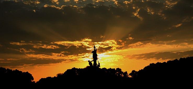 Herrenchiemsee, Schloß Herrenchiemsee, Sunset