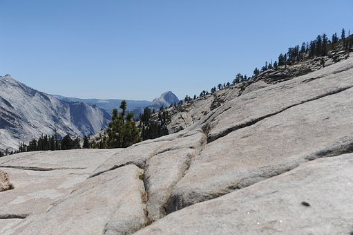 Yosemite National Park, California, Usa, Halfdome, Rock