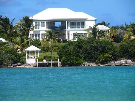 Beach House, Ocean, Vacation, Exuma, Bahamas