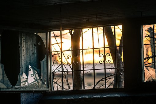 Window, Broke, Glass, Wall, Dirty, Texture, Iron, Rusty