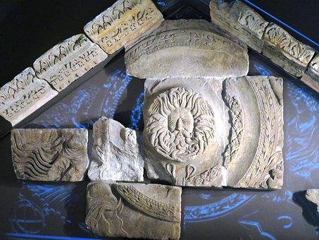 Roman Bath, Relief, Bath In England, Ornaments