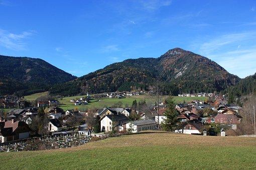 Weißbriach, Germany, Landscape, Village, Buildings