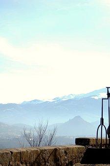 Foix, Castle, Landscape, Nature, Snow, Mountains, Well