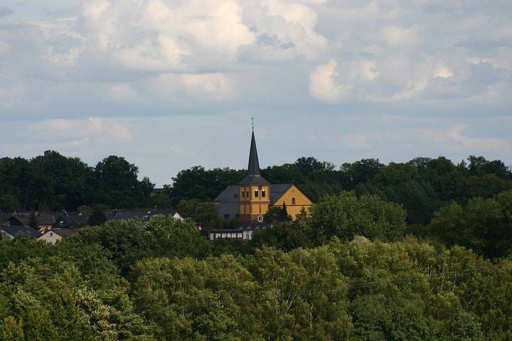 Church, Asbach, Churches, Building, Landscape