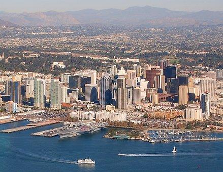 San Diego, California, Aerial View, City, Urban