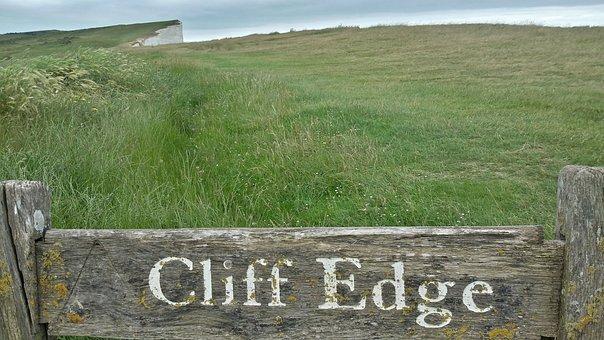 Cliffs, Demolition Edge, Risk, Warning, Crash