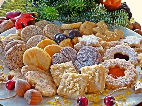 Cookie, Christmas, Advent, Plate, Christmas Decoration