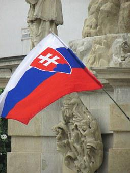 Flag, Slovakia, Trnava, Old, Historic, Monument