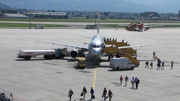 Airport, Salzburg, Aircraft, Passengers, Jet, Flyer