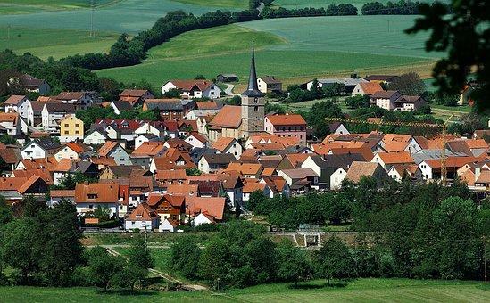 Burglauer, Germany, Landscape, Town, Village, Trees
