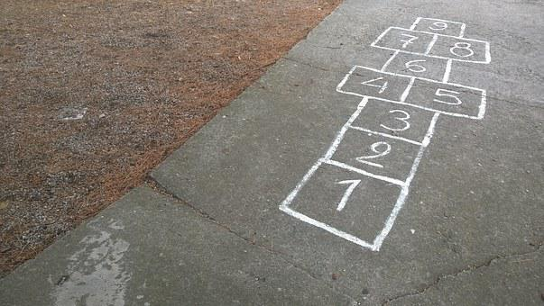 Play, Chalk, Hop, Bouncy Game, Pay