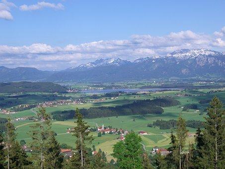 Lake, Mountain Panorama, Allgäu, Hop On The Lake
