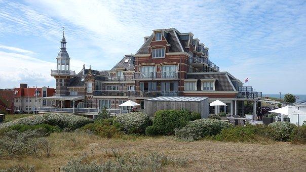 Domburg, Coast, Hotel, Bathing Pavilion, Beach