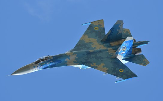 Airplane, Jet, Fighter, Flanker, Airshow, Military