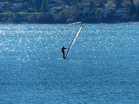 Surfer, Water Sports, Lago Di Ledro Lake, Lake
