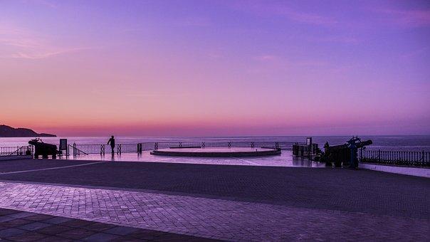 Dawn, Balcón De Europa, Nerja, Malaga, Sunrise Orange