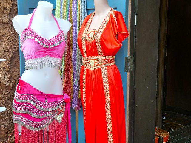Costume, Pink, Red, Clothes, Traditional, Mannequin