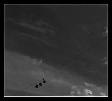 Cable Car, Mountain, Tracks, Aerial, Matlock
