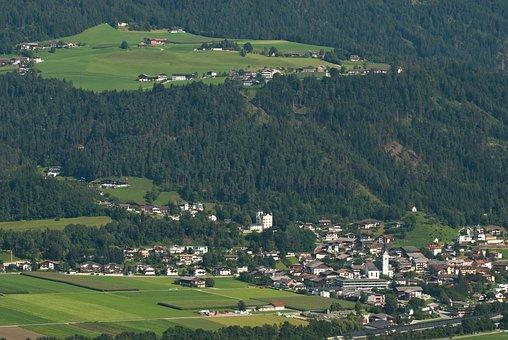 Austria, Landscape, Mountains, Valley, Ravine, Forest