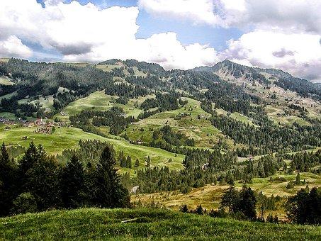 Sibratsgfall, Austria, Landscape, Scenic, Mountains