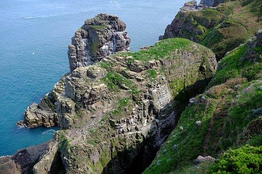 France, Brittany, Sea, Blue, Rocks, Nature, Cap Fréhel