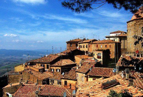 Village, Building, Hill, Homes, Home, Land, Old Town