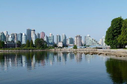 Vancouver, Skyline, Buildings, Skyscrapers, Pacific