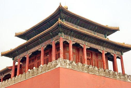 China, Beijing, Palace, Forbidden City, Pavilion