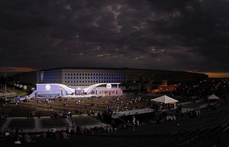Night, Washington Dc, Pentagon, Building, Architecture
