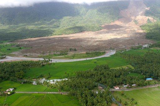 Philippines, Landscape, Landslide, Mountains, Forest