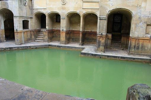 Bath, Roman Bath, Hot Spring, Roman