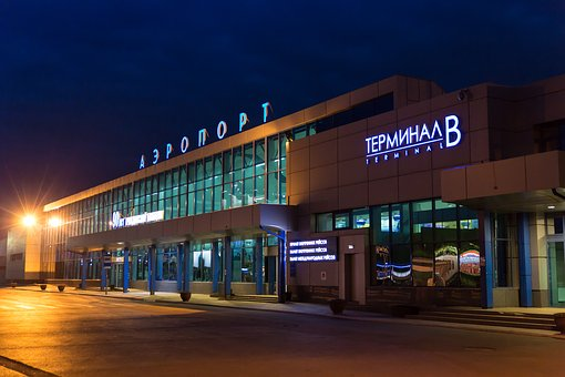 Airport, Omsk, Siberia, Russia, Tourism, Journey