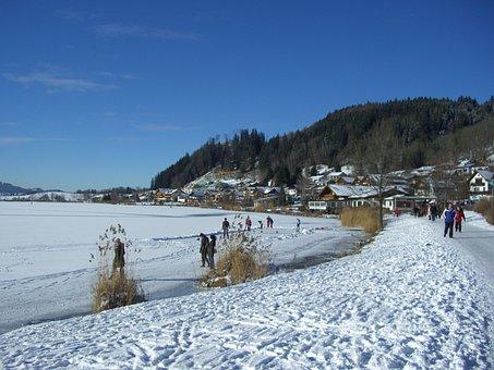 Hop On The Lake, Lake, Allgäu, Winter, Skate, Snow Hike