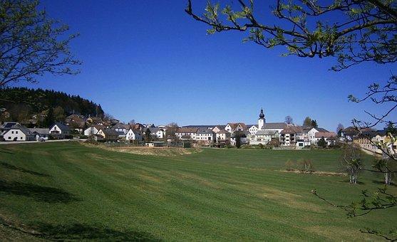 Liebenau, Austria, Village, Buildings, Sky, Clouds