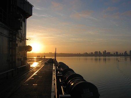 San Diego, California, Ship, Sky, Clouds, City, Cities