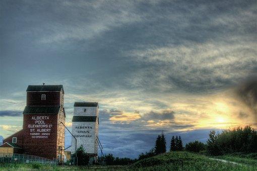 St Albert, Canada, Sky, Clouds, Buildings