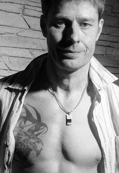 Man, Tattooed, Tattooed Man, Sexy, Tattoo, Portrait