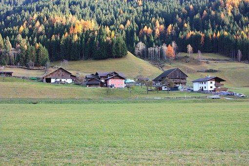 Mörtschach, Switzerland, Landscape, Village, Forest
