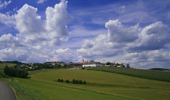Austria, Landscape, Sky, Clouds, Hills, Scenic, Vista