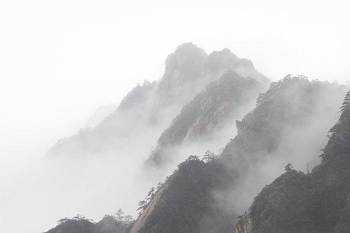 Huangshan, Winter, A Surname Mist, Foggy Road, Mountain