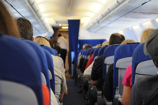 Airplane, On Board, Seats, People, Travel