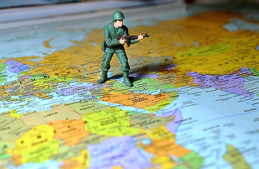 Soldier, Map, Middle East, Army, War, Military, Weapon
