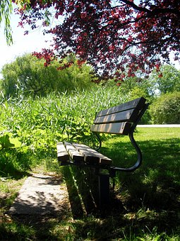 Idyll, Bank, Seat, Rest, Bench, On The Go, Shadow Space