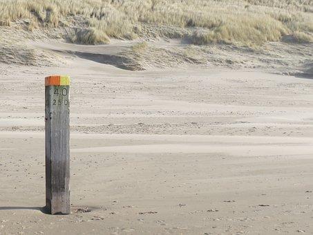 Sea, Beach, Beach Pole, Beautiful Beach, Nature