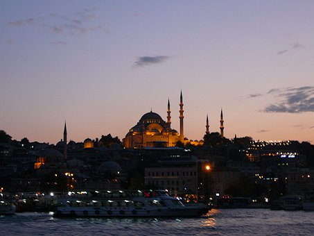 Bosphorus, Turkey, Istanbul By Night