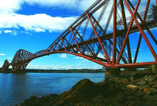 Forth Rail Bridge, Steel, Bridge, Rail, Landmark