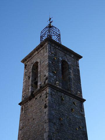 Bell Tower, Architecture, Church, Steeple, France